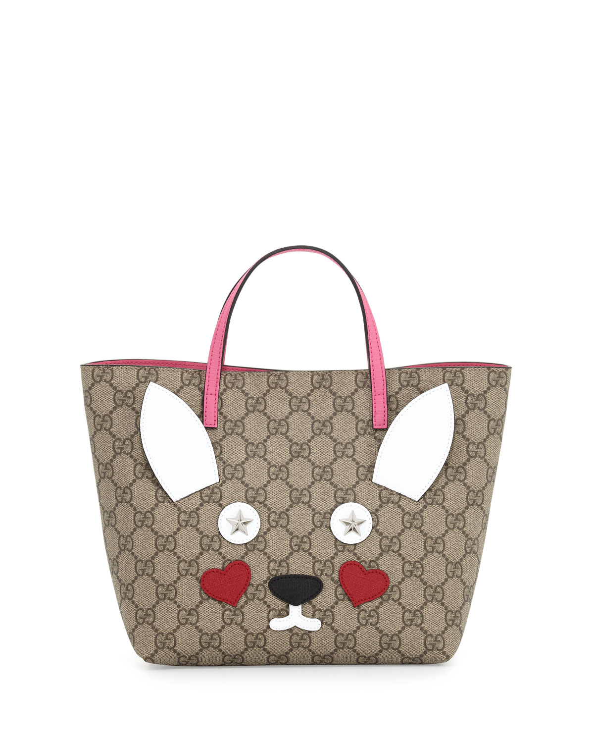 527b36030255 Gucci Girls' GG Supreme Rabbit Tote Bag, Multicolor | Neiman Marcus