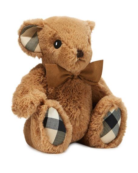 Plush Baby Teddy Bear w/ Check Trim