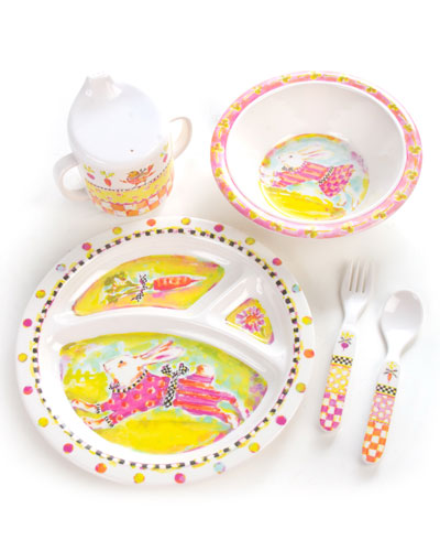 Toddlers' Bunny Dinnerware Set