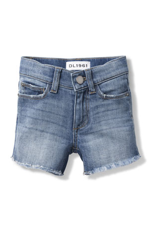 DL1961 Premium Denim Lucy Frayed Cutoff Shorts, Size 7-16