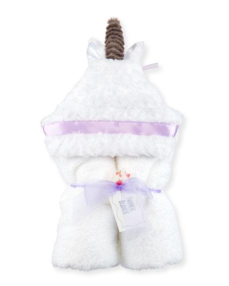 Swankie Blankie Unicorn Hooded Towel, White