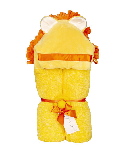 Swankie Blankie Lion Hooded Towel, Yellow