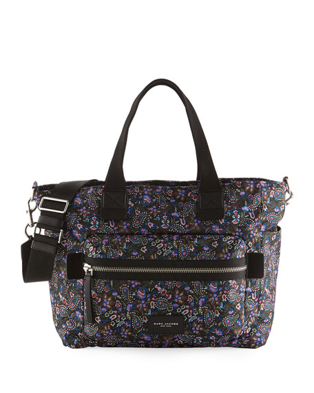 Marc Jacobs Biker Garden Paisley Baby Bag, Purple