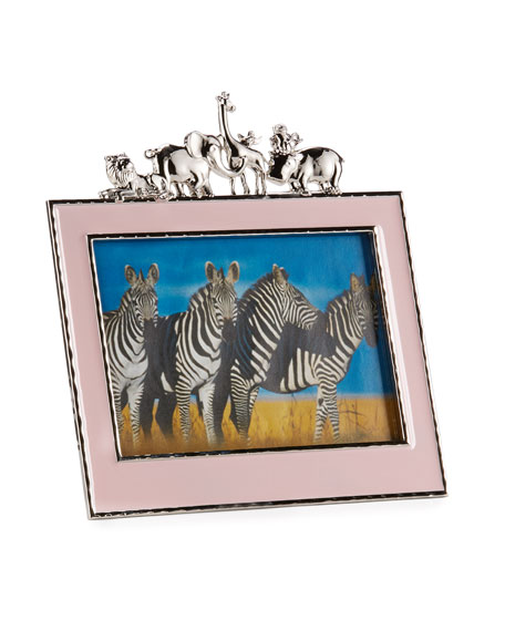 """Girls' Animals 5"""" x 7"""" Picture Frame, Pink"""