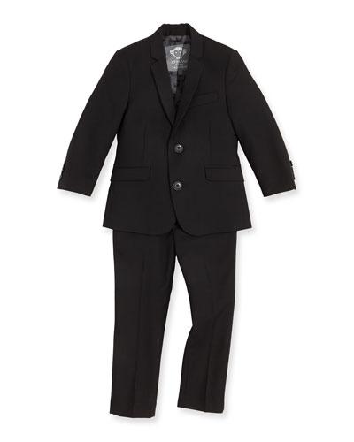 Boys' Two-Piece Mod Suit  Black  2T-14