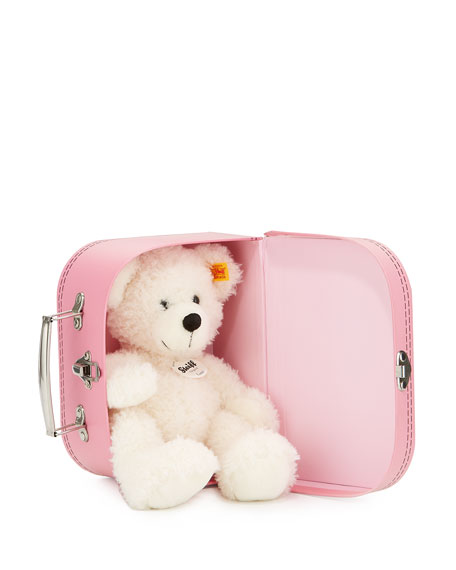 Lotte Stuffed Teddy Bear w/ Suitcase