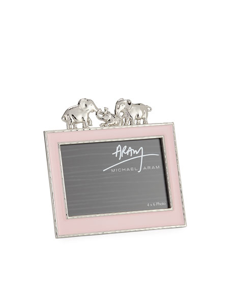 "Girls' Elephant 4"" x 6"" Frame, Pink"