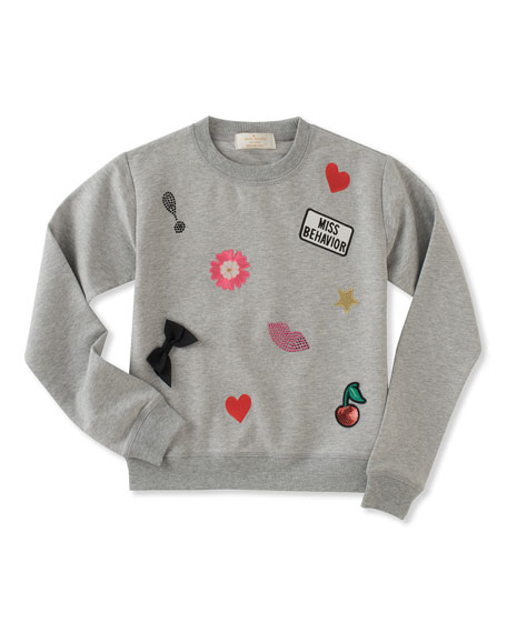 kate spade new york Infant girls' patched sweatshirt