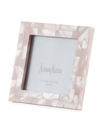 Mother-of-Pearl Picture Frame  Pink  3.5 x 3.5