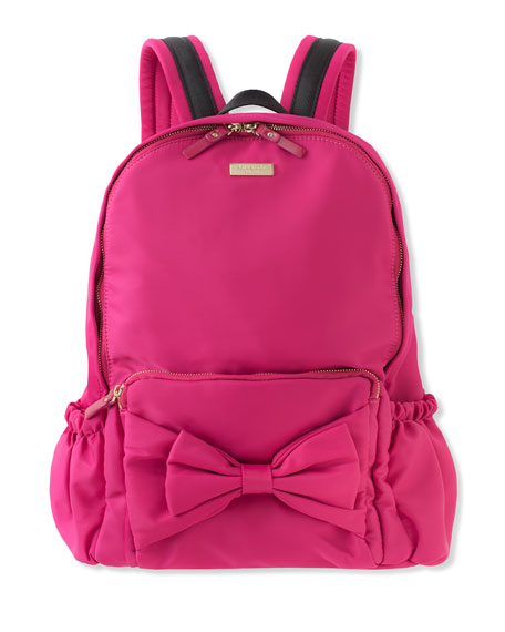 kate spade new york girls' back to school nylon backpack, pink ...