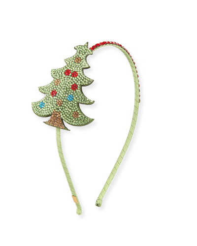 Girls' Crystal Christmas Tree Headband