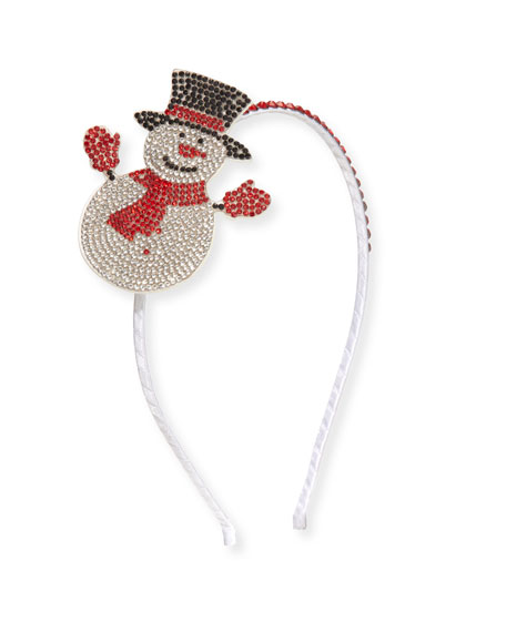 Bari Lynn Girls' Crystal Snowman Headband