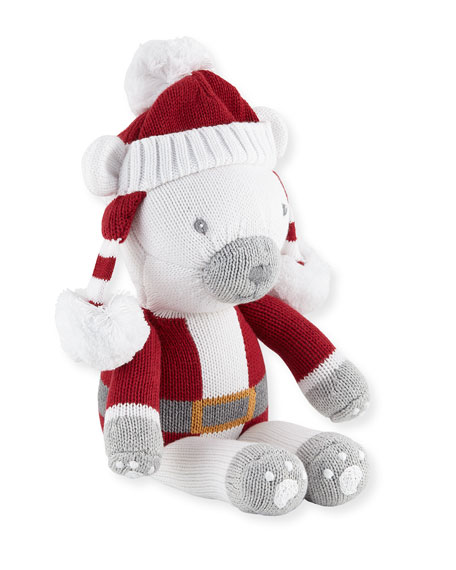 Zubels Boys' Polar Bear Santa Doll, 14