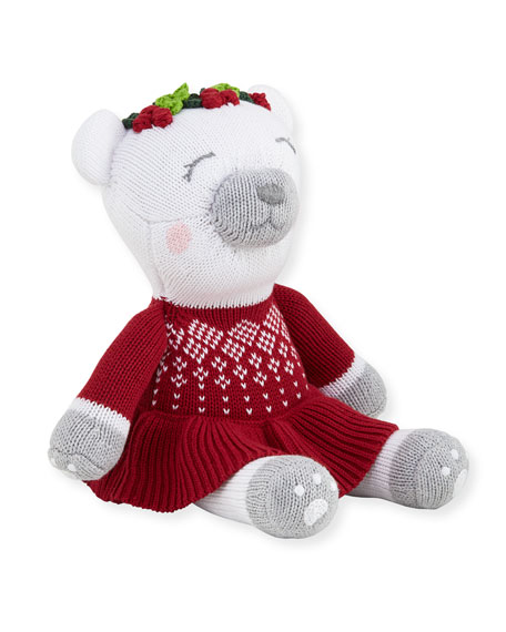 "Girls' Polar Bear Santa Doll, 14"""