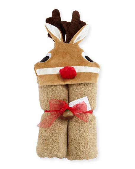 Swankie Blankie Reindeer Hooded Towel