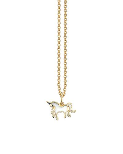 Girls' 14k Gold Unicorn Pendant Necklace