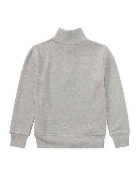 Pima Cotton Half-Zip Pullover Half-Zip Sweater, Size 2-4