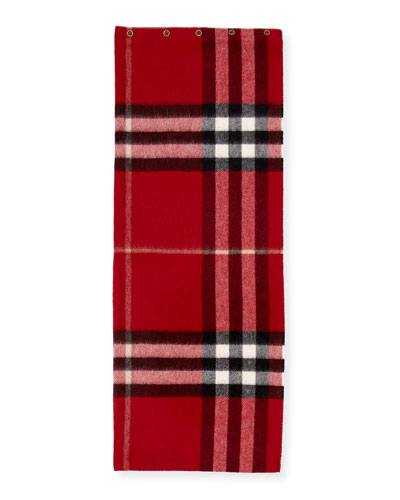 Kids' Cashmere Check Snood, Red