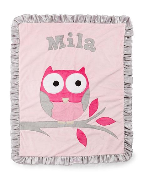 It's a Hoot Plush Blanket, Pink