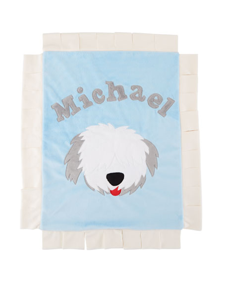 Personalized Pup Love Plush Lovey, Blue