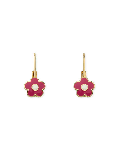 Girls' Enamel Flower Earrings