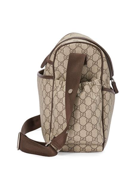 Basic GG Supreme Canvas Diaper Bag, Beige