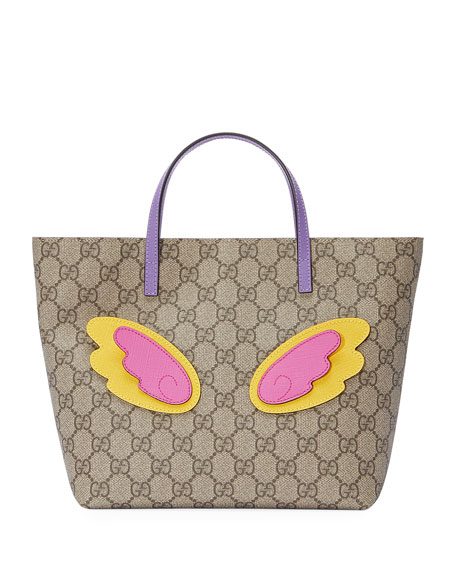 Girls' GG Supreme Unicorn Tote Bag, Beige