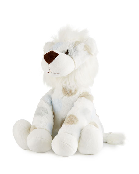 Little Giraffe Little L™ Plush Polka-Dot Lion, Blue