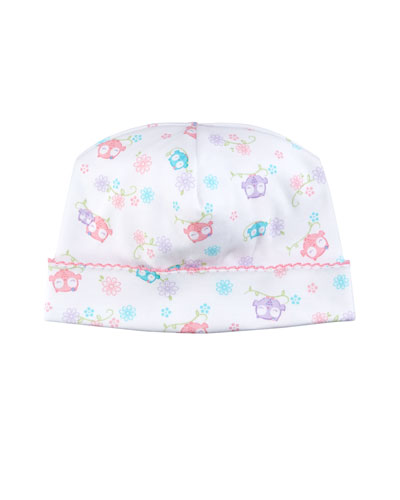 What A Hoot Pima Baby Hat