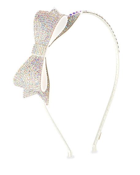 Girls' Crystal Bow Headband