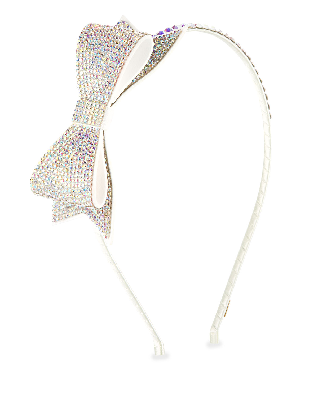 Bari Lynn Girls Pastel Crystal Bow Headband nt6PyXl