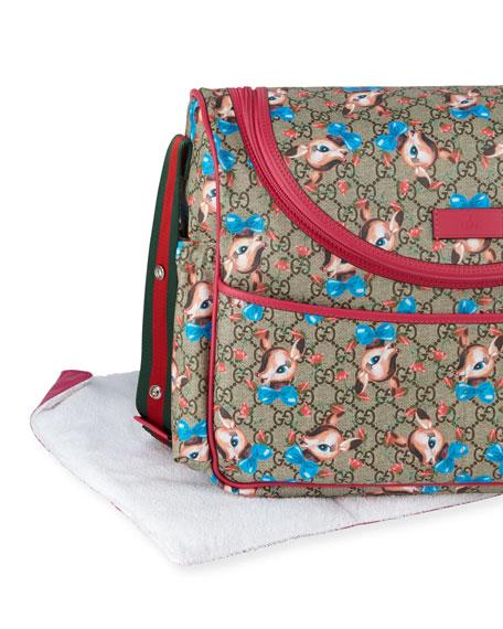 Kids' GG Supreme Fawns Print Shoulder Bag