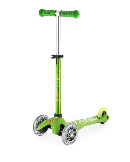 Micro Kickboard Mini Deluxe Light-Up Scooter, Green