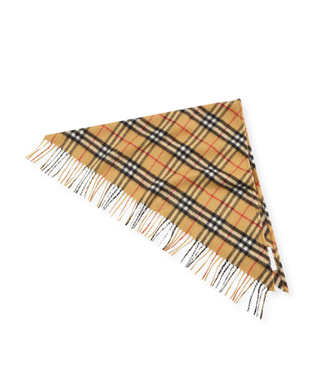 Burberry Kids' Fringe-Trim Cashmere Check Scarf