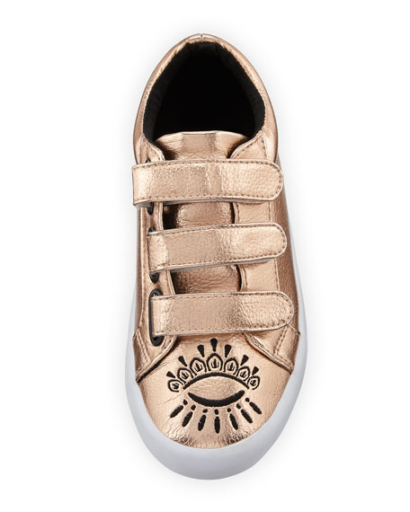 Winking Eye Metallic Sneaker, Kids