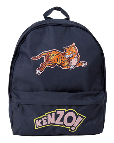 Kids' Logo & Jumping Tiger Backpack