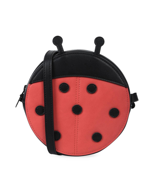 S Faux Leather Ladybug Crossbody Bag