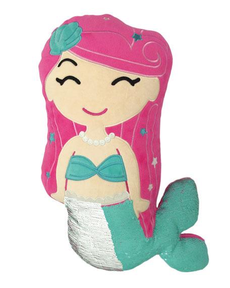 Iscream Kids' Sequin Mermaid Pillow
