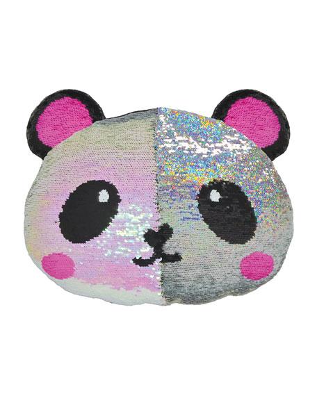 Iscream Kids' Sequin Panda Pillow