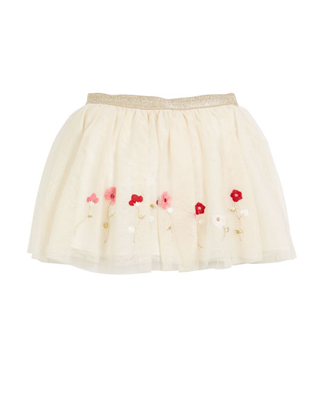 Mayoral Tulle Polka-Dot Skirt, Size 3-6