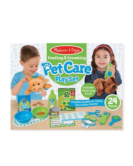 Melissa & Doug Feeding & Grooming Pet Care Play Set