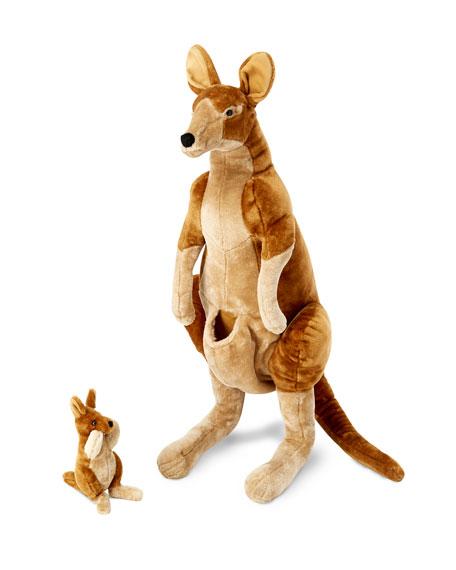 Melissa & Doug Kangaroo and Joey Lifelike Stuffed Animals