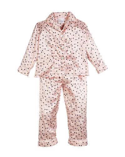 Dottie Dot Pajama Set, Size 3T-8