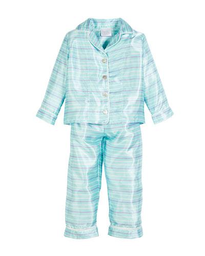 Tulip Stripe Pajama Set, Size 3T-8