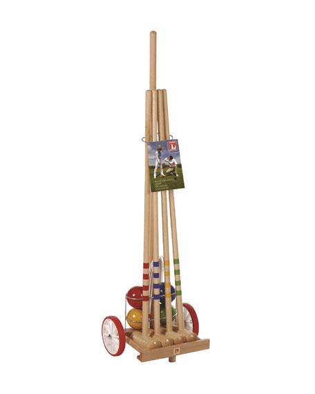 Kettler Kids' Croquet Set with Trolley Cart