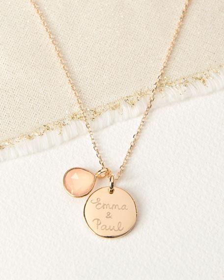 Merci Maman Personalized Gemstone Necklace