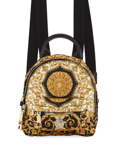 Kids' Baroque-Print Canvas Backpack
