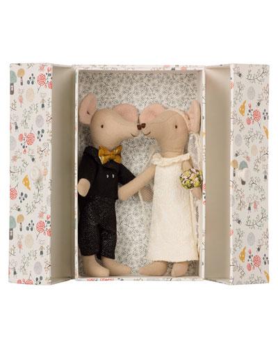 Kids' Wedding Mice Couple in Box