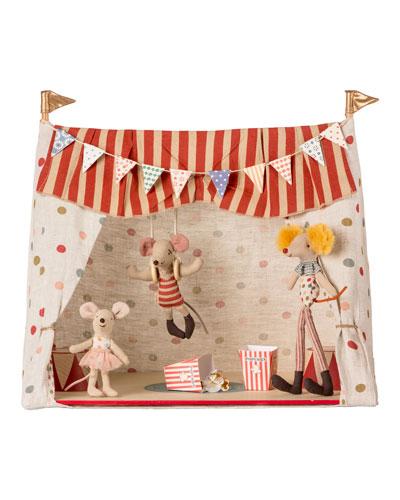 Kids' Circus Scene & Three Circus Mice