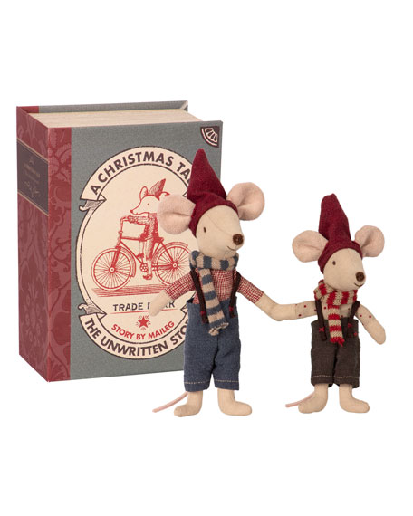 Maileg Kids' Christmas Mice in Book